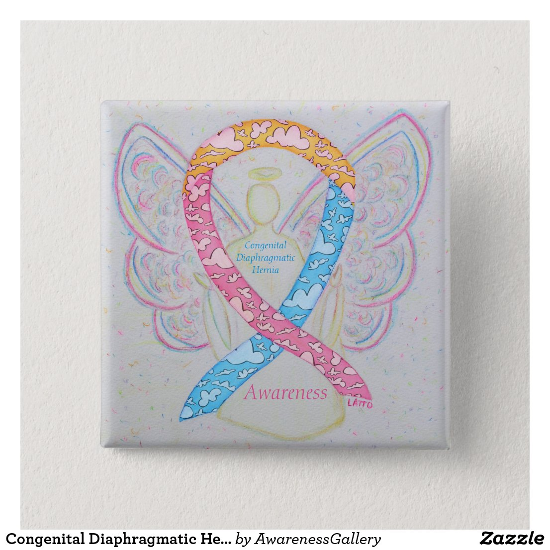 Congenital Diaphragmatic Hernia CDH Awareness Pin