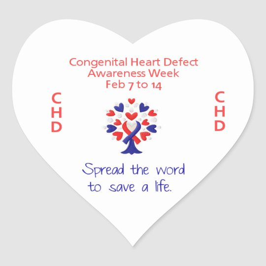 Congenital Heart Defect Awareness Week Stickers