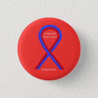 Congenital Heart Defect CHD Awareness Ribbon Pins