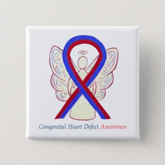 Congenital Heart Defect CHD Awareness Ribbon Pins