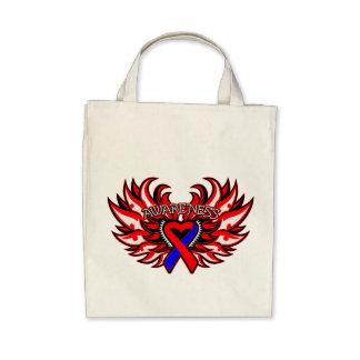 Congenital Heart Defects Awareness Heart Wings Bags