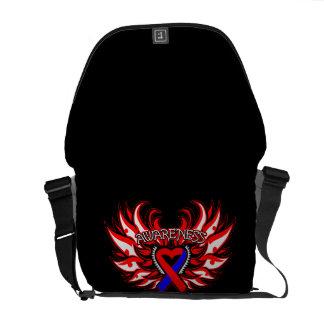 Congenital Heart Defects Awareness Heart Wings Messenger Bags