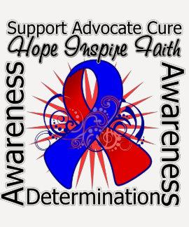 Congenital Heart Defects Inspirations Spiral Ribbo T-shirt