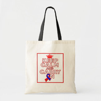 Congenital Heart Defects Keep Calm and Carry ON Bags