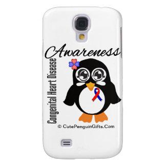 Congenital Heart Disease Awareness Penguin Galaxy S4 Cases