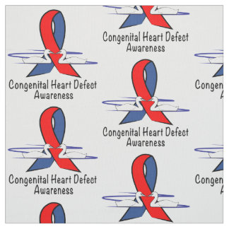 Congenital Heart Disease Awareness with Swans Fabric