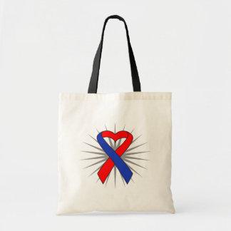 Congential Heart Defect Awareness Heart Ribbon Bags