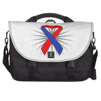 Congential Heart Defect Awareness Heart Ribbon Laptop Computer Bag