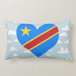 Congese Flag on a cloudy background Pillow