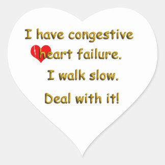 Congestive Heart Failure Heart Sticker