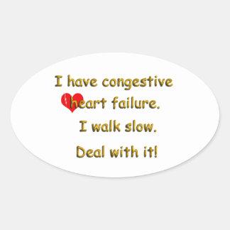 Congestive Heart Failure Oval Sticker