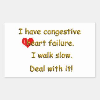 Congestive Heart Failure Rectangular Sticker