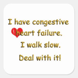 Congestive Heart Failure Square Sticker