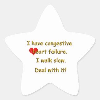 Congestive Heart Failure Star Sticker