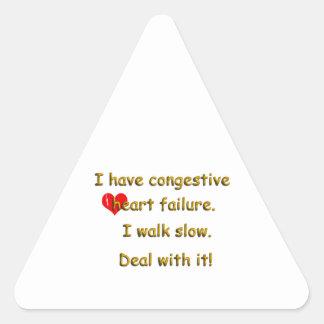 Congestive Heart Failure Triangle Sticker