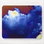 Congestus azul brillante del cúmulo y tormenta azu tapete de ratones