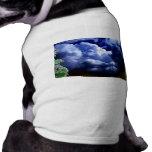 Congestus caótico brillante del cúmulo y branc que camiseta de perro
