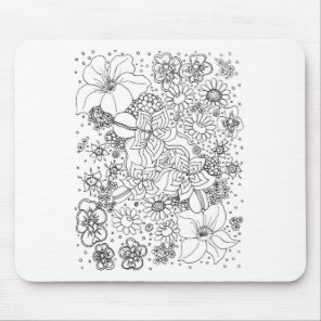 Conglomeration of Flowers Mouse Pad