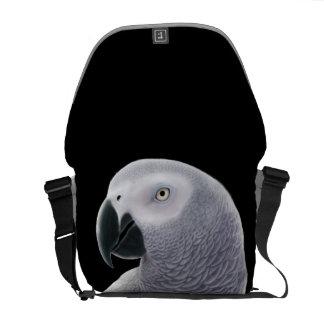 Congo African Gray Parrot Rickshaw Messenger Bag