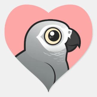 Congo African Grey Heart Sticker