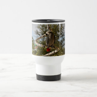Congo African Grey on a Swing Travel Mug