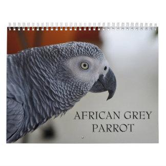 Congo African Grey Parrot Calendar
