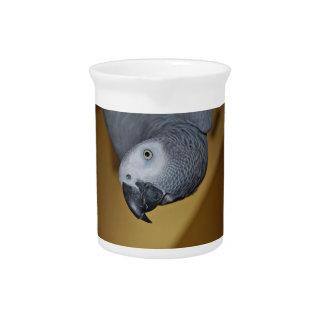 Congo African Grey Parrot Hello Beverage Pitcher