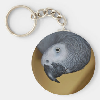 Congo African Grey Parrot Hello Keychain
