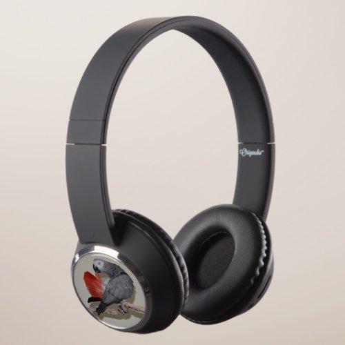 Congo African Grey Parrot Tail Preening Headphones