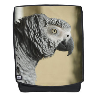 Congo African Grey Parrot with Ruffled Feathers Backpack