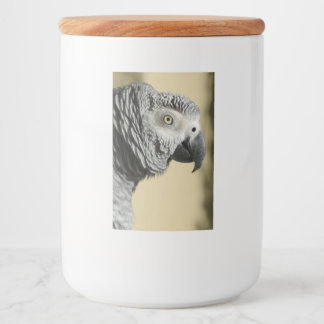 Congo African Grey Parrot with Ruffled Feathers Food Label