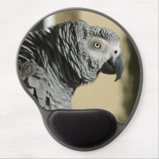 Congo African Grey Parrot with Ruffled Feathers Gel Mouse Pad