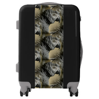 Congo African Grey Parrot with Ruffled Feathers Luggage