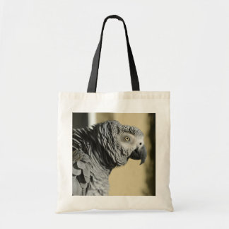 Congo African Grey Parrot with Ruffled Feathers Tote Bag