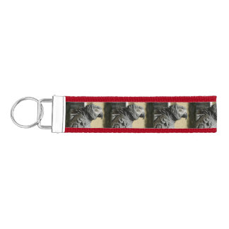 Congo African Grey Parrot with Ruffled Feathers Wrist Keychain