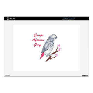 CONGO AFRICAN GREY SKIN FOR LAPTOP