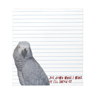 Congo African Grey Small Notepad