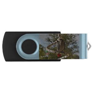 Congo African Grey Swivel USB 3.0 Flash Drive