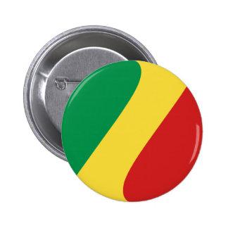 Congo-Brazzaville Fisheye Flag Button