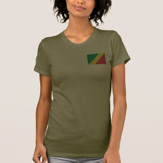 Congo-Brazzaville Flag and Map dk T-Shirt