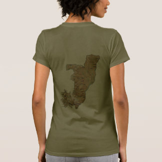 Congo-Brazzaville Flag and Map dk T-Shirt T-shirts