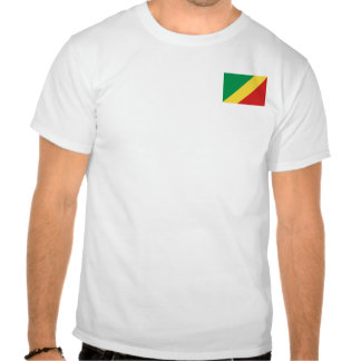 Congo-Brazzaville Flag and Map T-Shirt