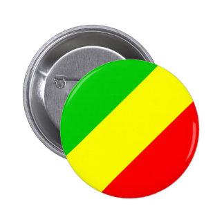 Congo Brazzaville Flag Pinback Button