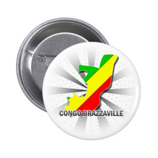 Congo Brazzaville Flag Map 2 0 Pinback Buttons