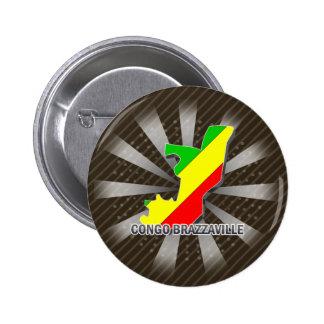 Congo Brazzaville Flag Map 2 0 Pinback Button