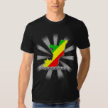 Congo Brazzaville Flag Map 2.0 T-Shirt