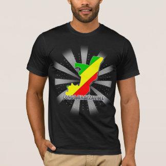 Congo Brazzaville Flag Map 2.0 T-Shirt