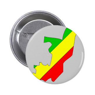 Congo Brazzaville flag map Pinback Buttons