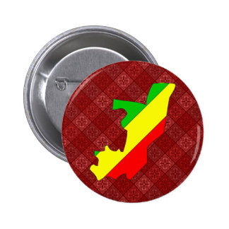 Congo Brazzaville Flag Map full size Pins
