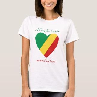 Congo-Brazzaville Flag Sweetheart T-Shirt